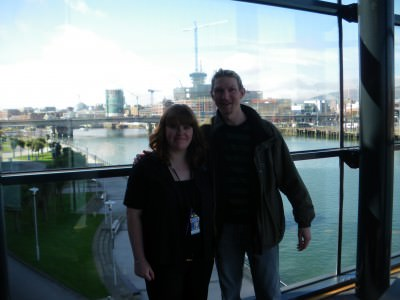 With my sister in Belfast in a more recent trip back to my capital city.