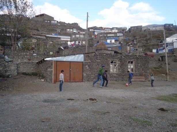 Playing football in Azerbaijan