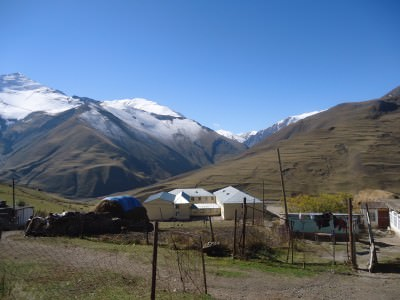 The edge of the village of Xinaliq in Azerbaijan