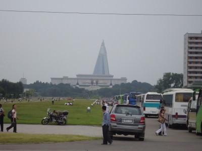 Life as it happens in downtown Pyongyang.