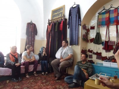 Inside a local Palestinian house for a chat and a coffee