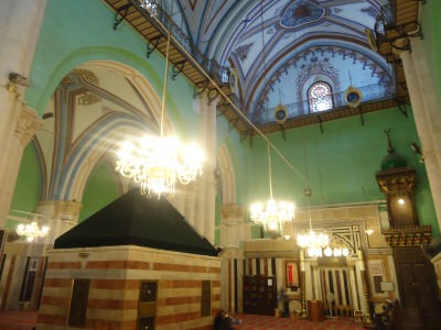 Inside the Ibrahmi Mosque on the Palestinian side of Hebron - a really fascinating history