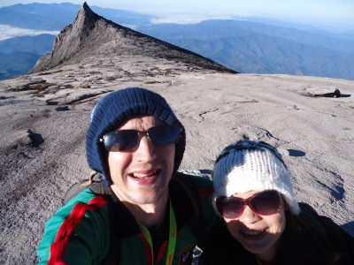 Staring back down from the peak of Mount Kinabalu in Malaysia, Borneo