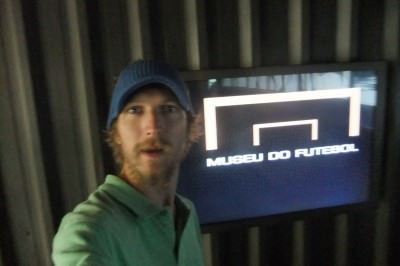 Inside the Museu Do Futebol during my second visit to Brazil in 2011.