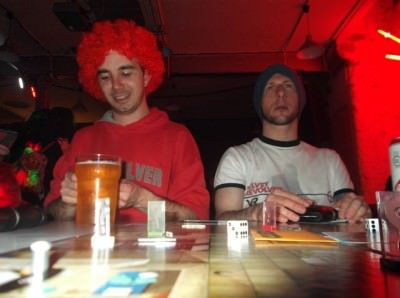 Dan and Lee on the Cluedo Pub Crawl