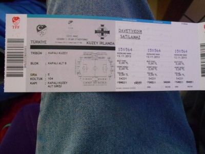 YES!! The golden ticket - Turkey v. Northern Ireland in Adana, November 2013