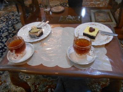 Our welcome to Shahr-e Kord. Endless tea and afternoon cake just for warm up!