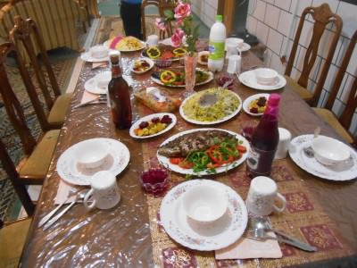 Feast of a table in Iran.