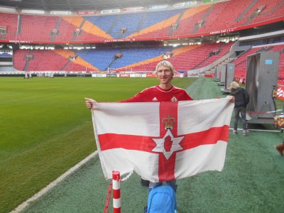 Touring the Amsterdam Arena in the Netherlands, home of Ajax.