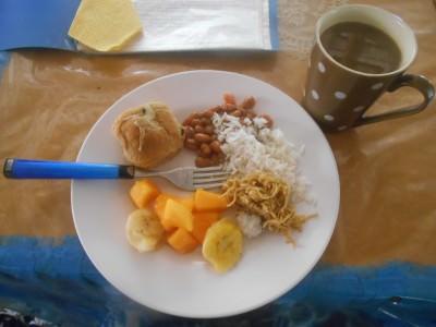 Coffee and breakfast on Atauro Island, East Timor.