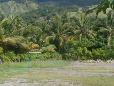A football pitch on Atauro Island, at Beloi