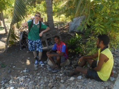 Meeting the locals in Maquili, Atauro