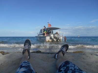 Relaxing on the beach in Beloi, Atauro Island