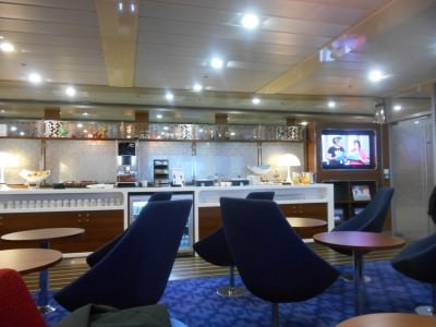 The Stena Plus Lounge/travel bloggers lounge.