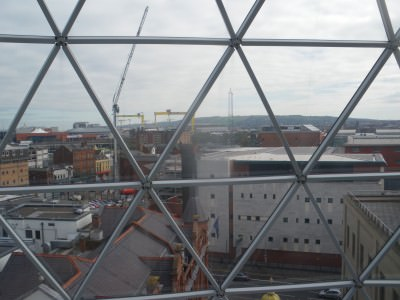 I'd spend my days staring out at Belfast City
