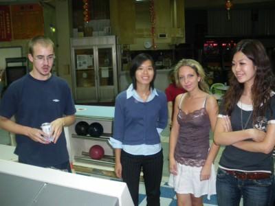 Backpacking in Taiwan - ten pin bowling in Xinying