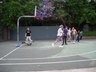 Playing football in Sydney, Australia in 2009.