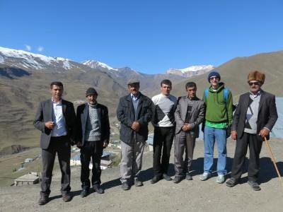 Meeting the local lads of Xinaliq in Azerbaijan