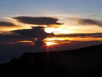 Sunrise from the top of Mount Kinabalu in Malaysia