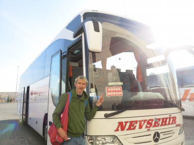 Getting a bus from Nevsehir to Adana - backpacking my way to a Northern Ireland match in Turkey.