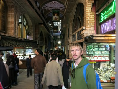 Backpacking in Iran: The Bazaar in Tehran.