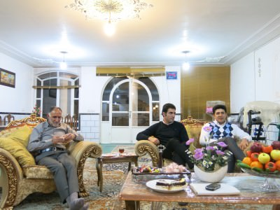 At home meeting the family at Rasool's place