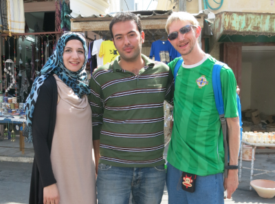 Touring Hebron with Mohammed my guide and one of the Palestinian ladies.
