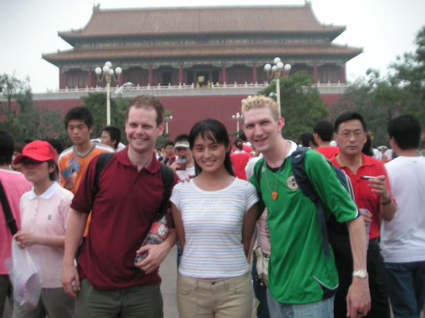 Backpacking in Beijing - Tiananmen Square - all happy back on my first visit...