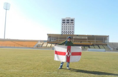 On the pitch in Erbil, Iraq