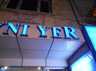 The AyNI YER bar in Adana - pre match beers.