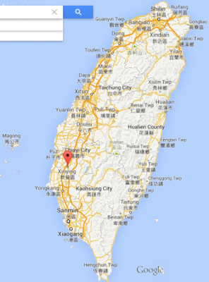 Where is Xinying? South Eastern Taiwan, but it's inland a bit.
