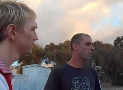 Interviewing Shomi, the Hero of Israel in Haifa.
