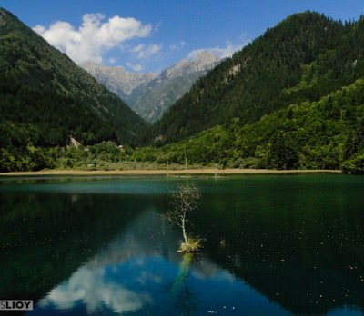 World Travellers: Stephen from Monk Bought Lunch - Lake at jiuzhaigou, China