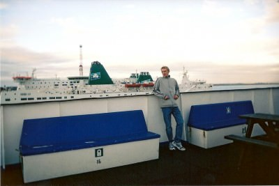 Leaving Rosslare in Ireland for Wales in 2003. I never returned to the island as a resident.