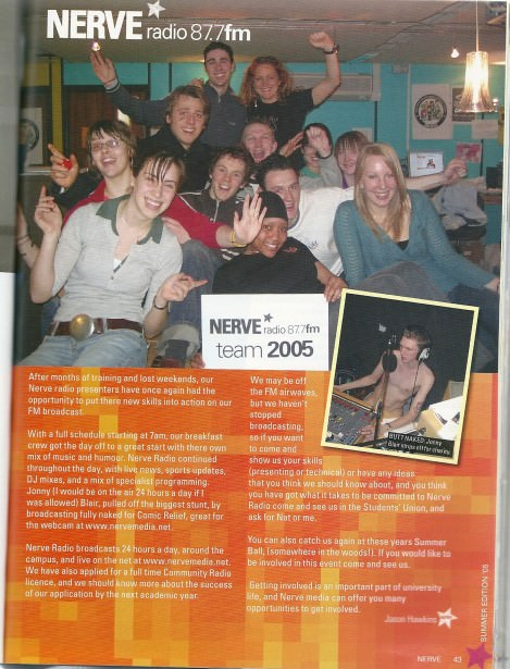 Feature in the University Magazine on Nerve