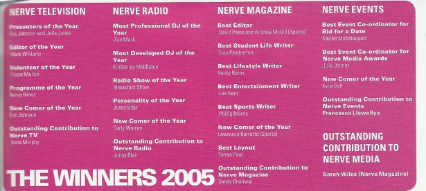 Nerve Media Awards 2005