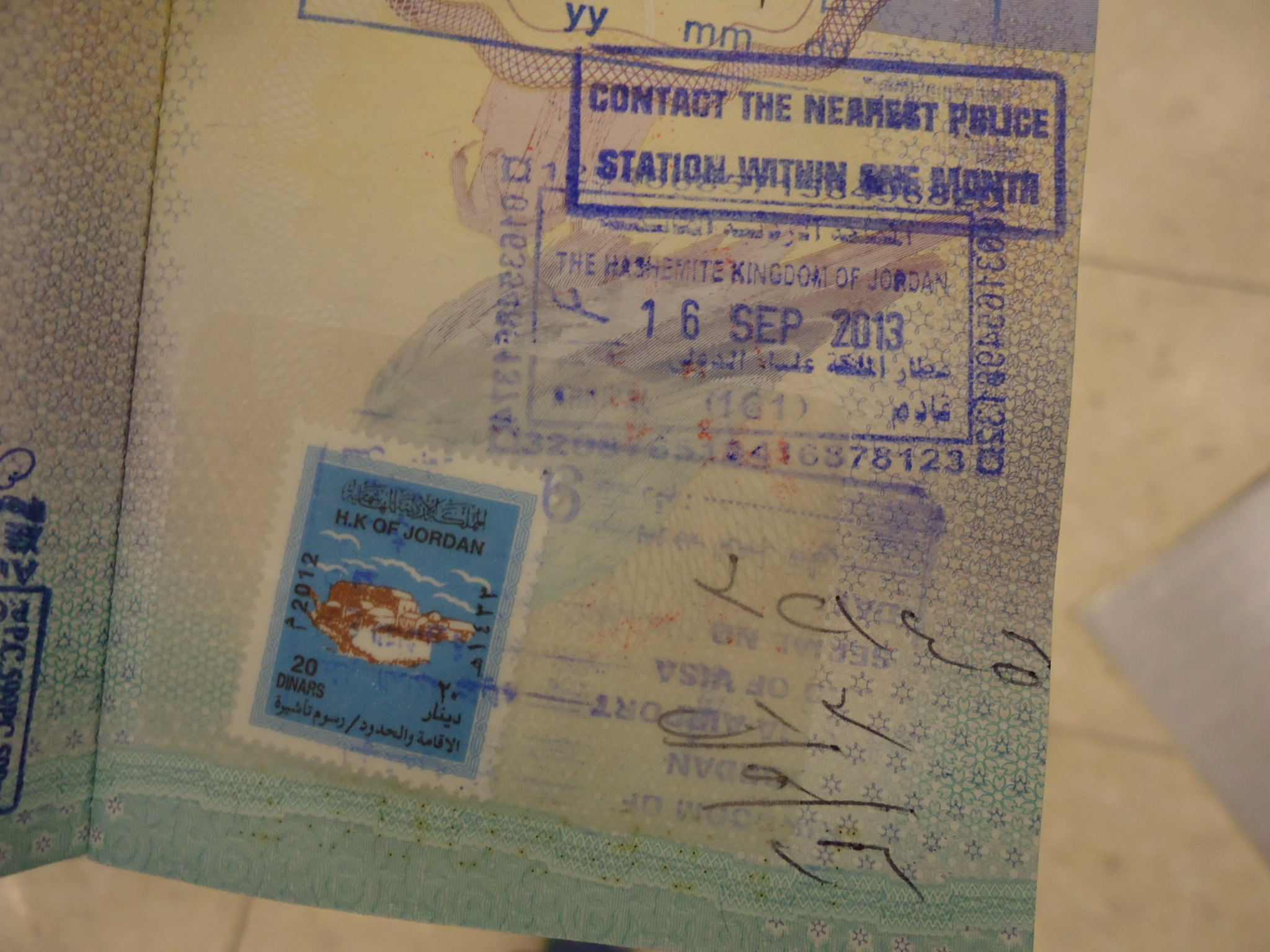 jordan visa on arrival airport amman