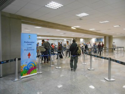 Airports in Brazil this month are party zones!