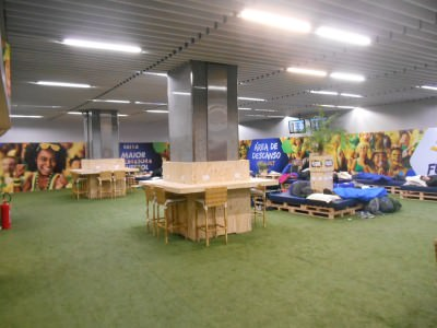 The Funzonia in Rio Airport - chill out zone.