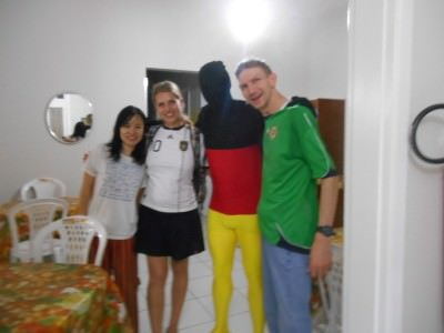 With the German fans in J Sun hostel