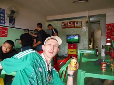 Watching Belgium v. Algeria in Benirzao Bar pre-Brazil v. Mexico.