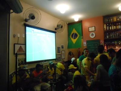 Watching Russia 1-1 South Korea in a bar in Fortaleza.