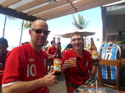 Watching the Aussie v Dutch match with Dorian.