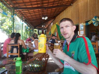 Pinguim Bar in Fortaleza for the Colombia v. Ivory Coast match.
