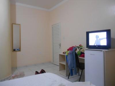 Hotel Room in Macapa watching Uruguay v. England