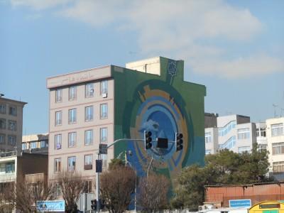Wall murals in Tehran, Iran.