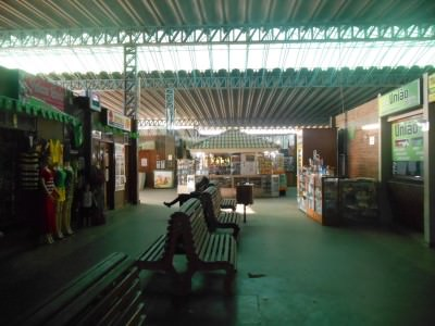 Inside the bus station at Terminal Rodoviario, Macapa, Brazil.