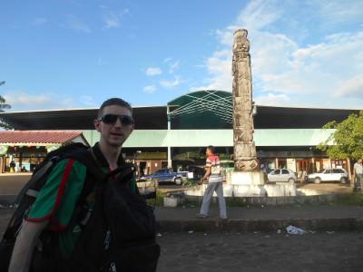 Leaving Terminal Rodoviario in Macapa, Brazil.