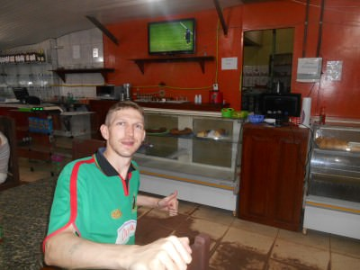 Watching Ecuador v. Honduras in an unknown bar in an unknown town somewhere on the Amazon basin between Macapa and Oiapoque.
