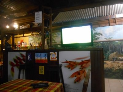 Watching the World Cup in Oyasamaid Bar, French Guyana